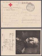 """Feldpost: """"25.Inf.Div."""", Rot-Kreuz-Karte Nach Darmstadt, 22.9.15 - Besetzungen 1914-18"""