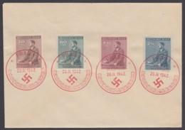 "85/8, ""Hitler-Geburtstag"", 1942, Roter ESst ""Prag"" - FDC"