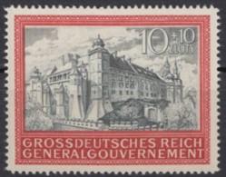 """Generalgouvernement: 125 """"Krakauer Burg"""", 1944, ** - Ocupación 1938 – 45"""