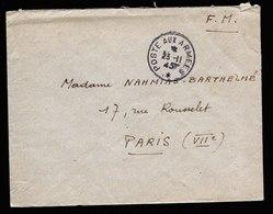 A6030) Frankreich France Feldpostbrief Poste Aux Armees 23.11.45 - Frankreich