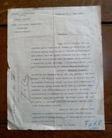 Brief  Pelote -- Mitrailleurs   Cercle  Sportief 1927  Gesigneerd  Com . VERELSTplus Andere - Documents
