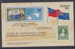 """Samoa BF N° 22  XX """"Zeapex'80 """", Exposition Philatélique Internationale, Le Bloc Sans Charnière, TB - Samoa"""