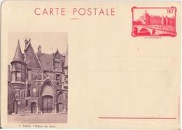 C CP La Conciergerie (9 L'Hôte De Sens) 90c Rouge 1936 F2d Neuf - Entiers Postaux