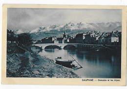 38 - GRENOBLE - Vue Générale Sur Les Alpes - Au Verso Pub Pour Le PER LUSTUCRU          BA - Grenoble
