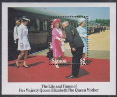 Samoa BF N° 35  XX 85ème Anniversaire De La Reine Mère Elisabeth, Le Bloc Sans Charnière, TB - Samoa