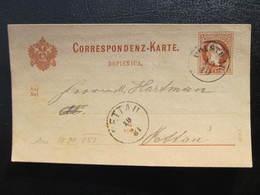 GANZSACHE Polstrau - Pettau Srediste Ob Dravi 1881   //  D*37383 - Briefe U. Dokumente
