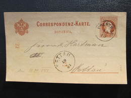 GANZSACHE Polstrau - Pettau Srediste Ob Dravi 1881   //  D*37383 - 1850-1918 Imperium