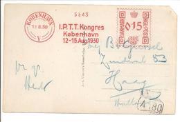 Danmark. I.P.TT. KONGRES 1930 Meter Stamp 162 - Covers & Documents