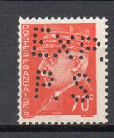 - FRANCE Variété N° 511g ** - 70 C. Orange Type Hourriez 1941-42 - PERFORÉ EXP. PS DE SAUMUR - Cote 60 EUR - - Variétés: 1941-44 Neufs