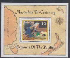Samoa BF N° 41  XX Bicentenaire De L'implantation Des Premiers Colons En Australie, Le Bloc Sans Charnière, TB - Samoa