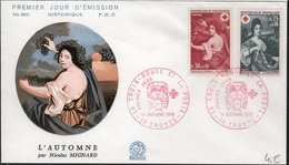 FDC188 - FRANCE N° 1580/81 Croix-Rouge Sur FDC 1968 - FDC
