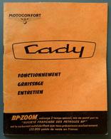 NOTICE Du Cyclomoteur CADY De Motoconfort ( Motobécane ) édition Avril 1966 , Complète, - Motos