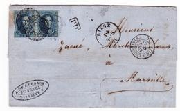 Lettre Liège 1861 Anatole De Lezaack Belgique Fabrique D'Armes Fusil Marseille - 1849-1865 Medaillons (Varia)