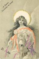 CHRISTMAS GREETINGS POSTCARD WITH 1905 HOMERTON S.O. SQUARED CIRCLE PMK #90462 - Christmas