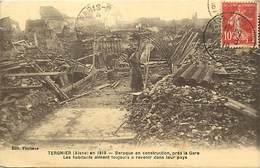 -dpts Div.-ref-AH432- Aisne - Tergnier En 1919 -baraque En Construction Près Gare -reconstruction Après Guerre 1911-18 - - Other Municipalities