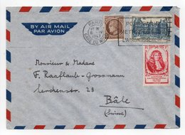 - Lettre PARIS Pour BÂLE (Suisse) 6.4.1947 - Bel Affranchissement Philatélique - - Lettres & Documents