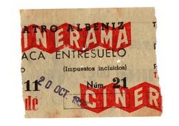 SPAIN OLD TICKET DE ENTRADA BILLETE ENTRY ENTRANCE ENTRÉE CINERAMA TEATRO ALBÉNIZ PUBLICIDAD PHILIPS ADVERTISING 1959 VE - Tickets - Entradas