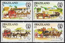 SWAZILAND, 1984 UPU, 19th Congress-Hamburg  4v MNH - Swaziland (1968-...)
