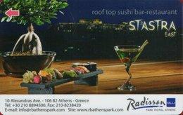 GRECIA  KEY HOTEL  Radisson BLU Park Hotel Athens - Cartes D'hotel