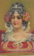 """""""Frauen, Jugendstil"""" 1900, Silberprägekarte ♥  - 1900-1949"""