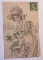 """""""Frauen, Kinder. Mode, Blumen, Hutmode"""" 1907, Munk Vienne ♥  - Ansichtskarten"""