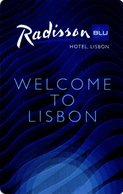 PORTOGALLO  KEY HOTEL  Radisson BLU Hotel Lisbon - Welcome To Lisbon - Cartes D'hotel