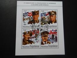 République Togolaise 2014 - 2e GM - 70e Anniversaire Débarquement De Normandie - Bloc De 4 - 2. Weltkrieg
