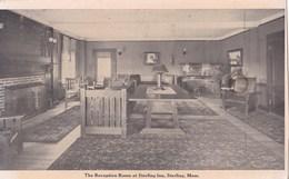 Carte 1920 THE RECEPTION ROOM AT STERLING INN / STERLING MASS - Etats-Unis