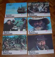 Rene Cardona Jr TREASURE OF THE AMAZON - 8x Yugoslavian Lobby Cards - Foto's