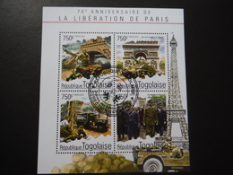 République Togolaise 2014 - 2e GM - 70e Anniversaire Libération De Paris - Bloc De 4 - 2. Weltkrieg