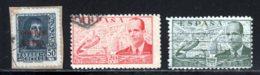 Espagne PA 1941 Yvert 182 - 217 - 222 (o) B Oblitere(s) - Poste Aérienne