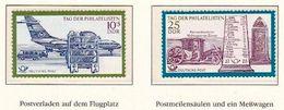 Allemagne-Est Germany-East DDR 1971: Postflugzeug & Postmeilensäule Mit Messwagen Michel-No. 1703-04 ** - Poste