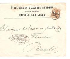 SJ91/ TP Oc 15 S/L.Entête Etablissement Jacques Piedboeuf SA Jupille Lez-Liège C.Jupille 1917 Censure Lüttich V.BXL - Bières