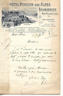 Lettre 1905 Comtesse De Scey 25 MONTBELIARD / Hôtel Des Alpes BAUMAROCHE Mont Pelerin Sous Vevey SUISSE - Switzerland