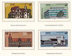 Allemagne-Est Germany-East DDR 1982: Post- Und Fernmelde-Gebäude In Der DDR  Michel-No.2673-76 ** - Poste