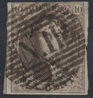 "Médaillon - N°10 Margé + 1 Voisin Obl Ambulant ""N. II""  (Nord N°2). Superbe - 1858-1862 Medallions (9/12)"