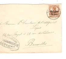 SJ92/ TP Oc 15 S/L.c.Fallais  1917 Censure Lüttich V.BXL - [OC1/25] General Gov.