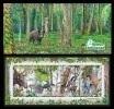 Belarus 2014 Mih. 1036/39 Fauna. Naliboki Forest (booklet) MNH ** - Belarus