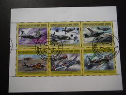 République De Guinée  2011 - 2e GM - Avions Militaires - Bloc De 6 - WO2