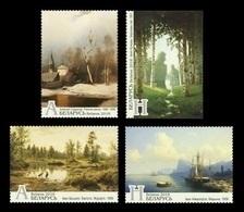 Belarus 2018 Mih. 1247/50 Masterpieces Of Painting. Church. Nature. Fauna. Birds. Ships MNH ** - Belarus