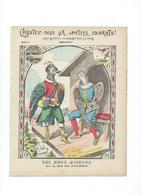 Les Deux Pigeons Chantez-moi Air Du Bon Roi Dagobert Couverture Protège-cahier Bien +/- 1900 3 Scans - Protège-cahiers