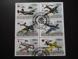 Union Des Comores 2008 - 2e GM - Avions Militaires - Bloc De 6 - 2. Weltkrieg