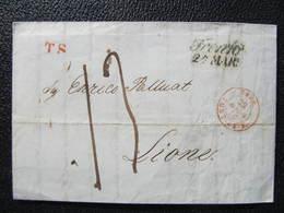 BRIEF Trento Lyon  Lione 1846//  D*37391 - Italia