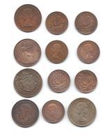 Un Lot De 12 Pièces De Grande Bretagne - Half Crown - One Penny - Half Penny - Grossbritannien