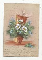 Cp, Fleurs,noeud Tissus, Union Postale Universelle ,dos Simple , Voyagée 1904, Ed. Mallard-Boilley - Flores