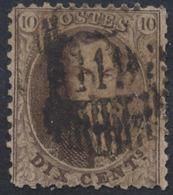 """Médaillon Dentelé - N°14 Obl Glissée D119 """"Obourg"""" - 1863-1864 Medallions (13/16)"""