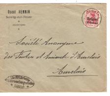 SJ94/ TP Oc 3 S/L.Entête Oscar Hennin Seraing S/Meuse C.Seraing 1916 Censure Lüttich V.Auvelais - WW I