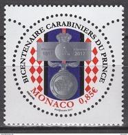 MONACO 2017  - Y. T. N°3075 / BICENTENAIRE DES CARABINIERS DU PRINCE - NEUF ** - Nuovi
