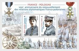 H01 France 2019 Joint Issue France - Poland  MNH Postfrisch - Frankreich