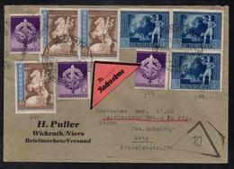 WICKRATH - ALLEMAGNE - III REICH / 1942 LETTRE  CONTRE REMBOURSEMENT POUR METZ - NACHNAHME (ref LE3359) - Lettres & Documents